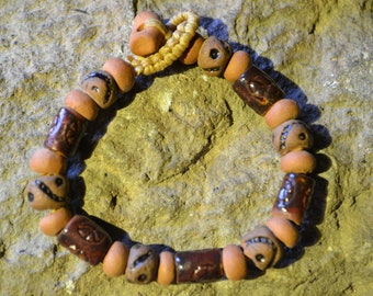 Peace bracelet out of clay kilneed ceramic
