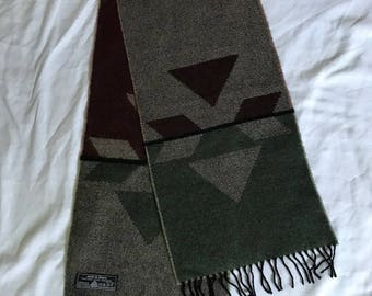 Vintage Made in France wool scarf