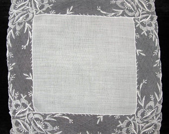 White Handkerchief Hankie Vintage Hankerchief Hanky