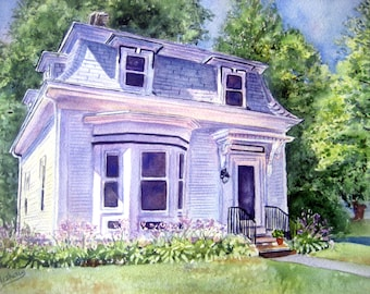 Custom Painting of home. 11x15 of your home from a photo of your choice..