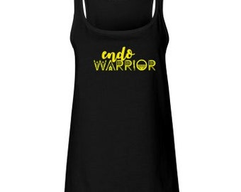 EndoWarrior Black Relaxed Flowy Tank Top // Endometriosis Awareness // Fitness // Workout // Causes