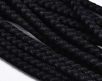 On Sale NOW 25%OFF 5mm Poly Braided Pvc Wire Core Cord - Black - 16""