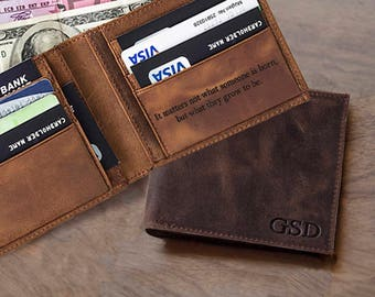 Mens gift personalized gift for boyfriend gift funny personalized gift for men anniversary gift for mens wallet personalized leather wallet