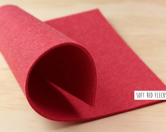 FELT//Red felt sheet//felt fabric//Christmas felt//2mm thick - 20cm x 30cm