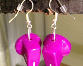 Violet Knob Earrings