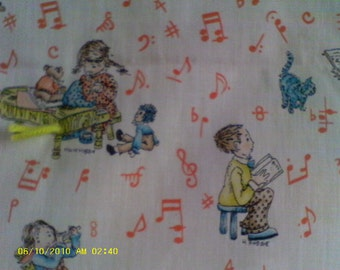 Hollie Hobbie Little Musicians Throw Quilt/Blanket