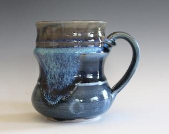 Unique coffee mug, 12 oz, handmade cup, handthrown mug, stoneware mug, wheel thrown pottery mug, ceramics and pottery