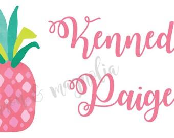 Pink Pineapple Calling Card