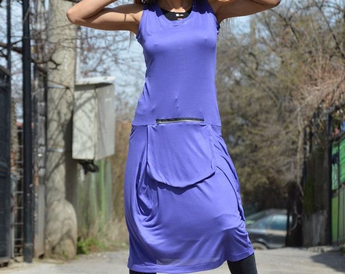 Maxi Purple Dress, Plus Size Dress, Cotton Summer Tunic, Oversize Shirt Dress, Elegant Tunic with Front Poket, Ladies Dress by SSDfashion