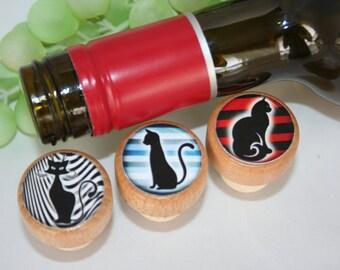 Cat Wine Stopper, Wine Stopper, Cork Stopper, Kitty Cat Stopper, Wine Cork, Wedding Stopper, Wine Gift, Cat Lover Gift