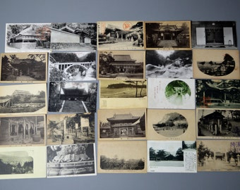 25 Antique Japanese Postcards. Lot1.