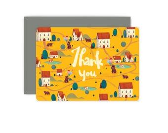 Bear Village Flat Card Box