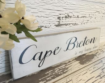 "Free Shipping! Rustic Distressed Wooden Cape Breton Sign on reclaimed lumber 22"" X 5.5"" .."