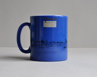 Furgro - Oil Gas Drilling Technology Illustrated Graphics - Advertising Mug - Made in England
