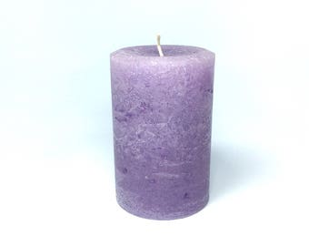 """Light Purple Large 4"""" Wide Unscented Pillar Candle - Choose 4"""", 6"""" or 9"""" Tall"""