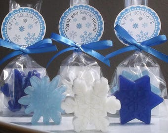 Snowflake Wedding Favors - Winter Wedding Favors, Snowflake Wedding Party Favors, Winter Wedding Decor - Set of 10