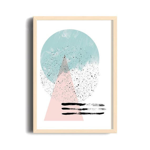 DOUX PRINTEMPS #3/ Abstract art, 12x18, minimalist art print Monstera leaf, Scandinavian style, nordic design, pink