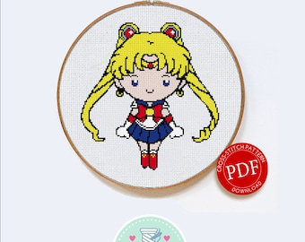 Sailor Moon | Digital Download | Geek Cross Stitch Pattern | Anime Pattern