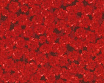 Red Packed Flowers Collette Timeless Treasures Fabric