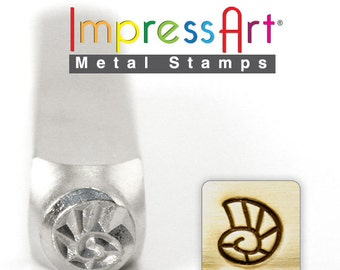 NAUTILUS SHELL METaL STaMP NEW 6mm Steel Punch ImpressArt Stamping Sea Mollusk  Summer Tool Jewelry Making Tool
