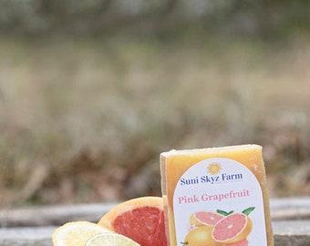 Citrus Soap - Pink Grapefruit Soap - Orange Essential Oil Soap - Lime Essential Oil Soap - Handmade Citrus Soap