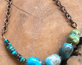 Sale!!! Reg 35.00 sale 30.00 Turquoise and agate necklace