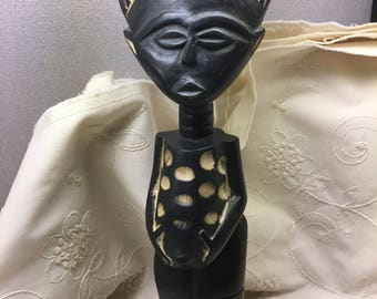 Hand Crafted Statue Of Woman Pregant From Ghana Africa