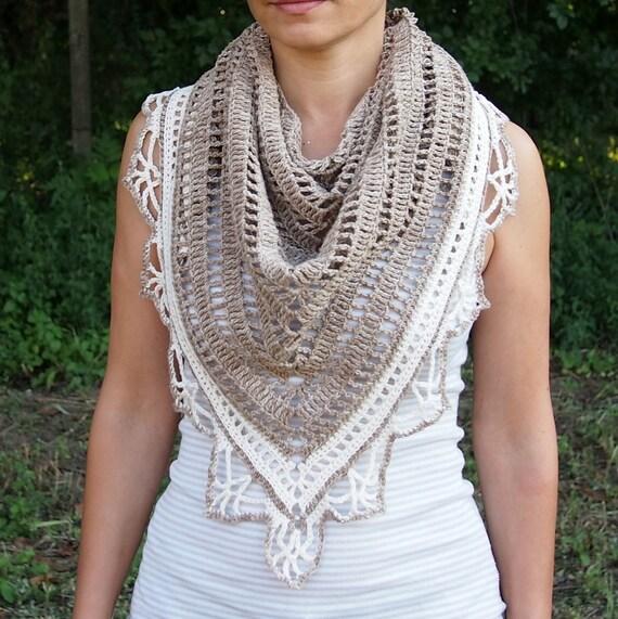 Crochet Pattern Shawl Woman Triangle Shawl Crochet Lace
