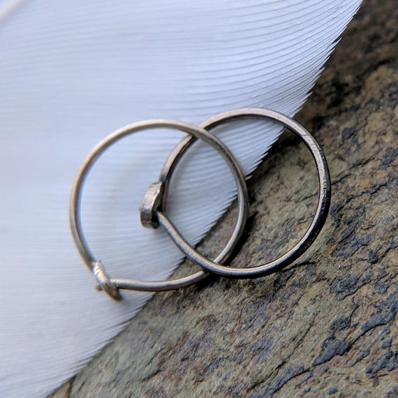 24g nose ring 14k solid gold sterling silver or niobium