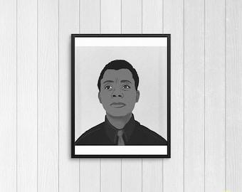 James Baldwin Illustration / Black History Art Print