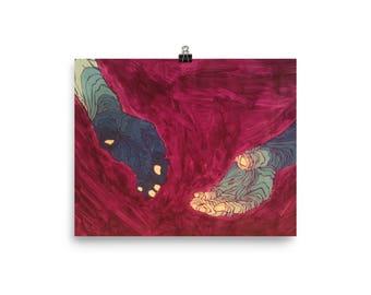 creation of adam print