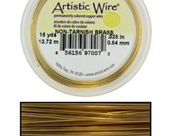 Artistic Wire Tarnish Resistant Brass 18ga - 10 Yard Spool  (WR33618)
