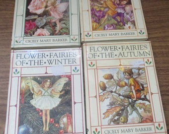 The Flower Fairies of The Seasons Spring, Summer Autumn, Winter Small Books (1990)
