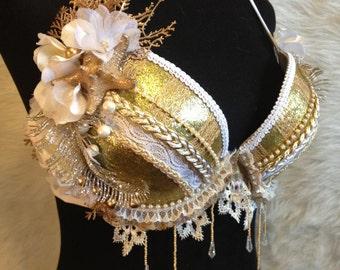 Royal gold mermaid bra