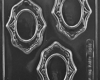 Oval Frames (3) Chocolate Mold