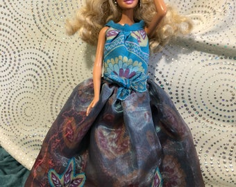 Barbie Organza and silk dress