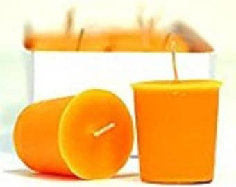 15 Hour Orange Unscented Soy Votive Candles Pick A Pack