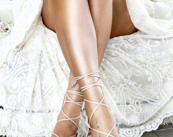 Bridal shoes barefoot sandals and bridal by foreversoles on etsy ladies nude flat sandal gladiator sandal nude leather sandal nude wedding shoe junglespirit Image collections