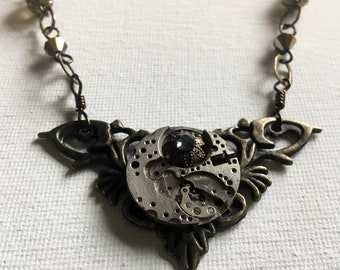 Upcycled steampunk necklace