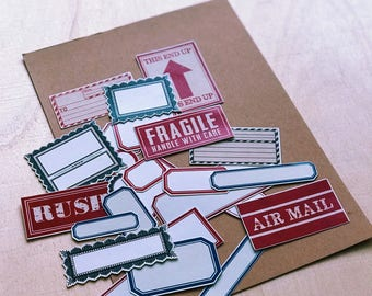 Vintage Style Label Flake Stickers