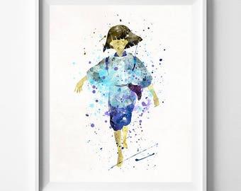 Haku Art, Haku Print, Spirited Away, Ghibli Watercolor, Ghibli Poster, Room Print, Office Decor, Bedroom Art, Art Print, Type 1, July 4th
