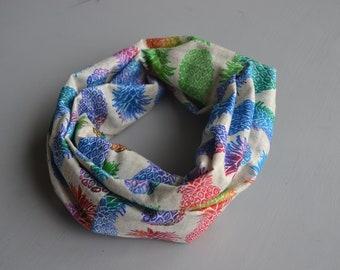 Tropical Rainbow Pet Scarf / Pineapple Print / Rainbow Scarf / Infinity Scarf / Pet Neckwear