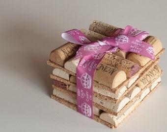 Keep Calm Carry On Wine Cork Coasters Set of 4 Wine Cork Crafts, Wedding Favors, Wine Decor