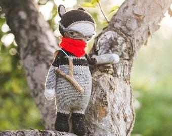Roco The Raccoon inspired by Lalylala / Crochet Doll / Handmade Amigurumi / Amigurumi animal