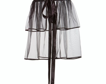 Organza overskirt - black, double layered (all sizes), styling accessory