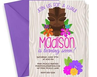 Luau Invitation, Hawaiian Invitations, Luau Birthday Invitation, Luau Party, Luau Party Invitations, Luau Invite, Luau Birthday, Luau | 147