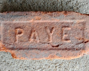Antique Vintage PAYE Brick Historical Architectural Hudson Valley New York