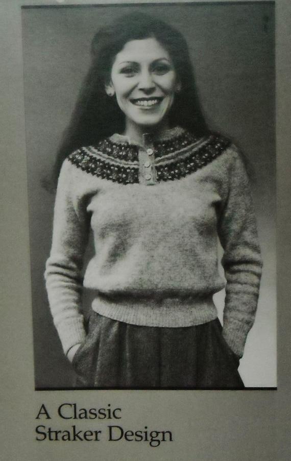 Vintage Straker Design Knitting Pattern, Fair Isle Sweater, Knitting ...