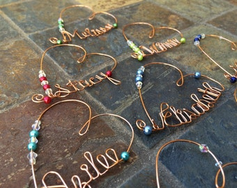 Personalized Heart Shaped Wine Charm