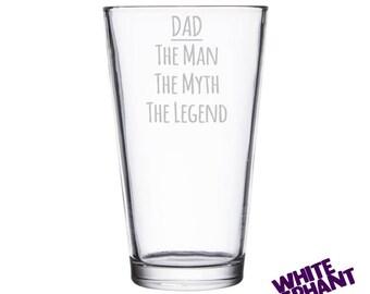 Dad Man-Myth-Legend Tumbler/High-Ball/Pint Glass
